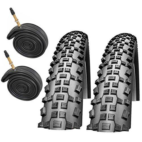 "Schwalbe Rapid Rob 26\"" x 2.25 Mountain Bike Tyres with Presta Tubes (Pair)"
