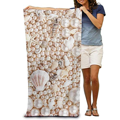 Gebrb Prämie Duschtücher/Badetücher,Strandtücher Great Pearl Shell Pool Towel,Swim Towels for Bathroom,Gym,and Pool 31 in X51 in (Shell 635)