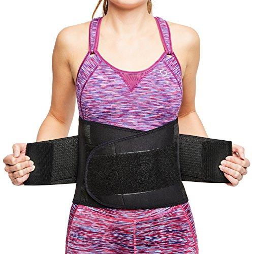 sit right Rückenbandage - Stabilisierungsgurt aus Thermomaterial mit zweifach verstellbaren Bändern für den perfekten Sitz - Rückenstütze für Männer & Frauen - schwarz - Vers. Größen (L-XL)