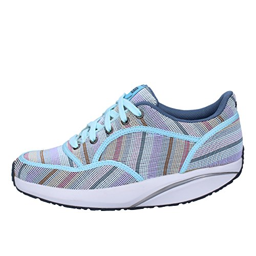 Zapatillas De Tela Azul Claro Mbt Para Mujer