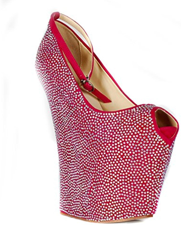 Lacitena Lacitena Lacitena Ladies Donna Piattaforma con Zeppa Piattaforma Scarpe Peep Toe Party Dimensione | Prima Consumatori  | Maschio/Ragazze Scarpa  184d12
