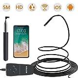 ROTEK Endoskopkamera, Wifi Endoskop 2.0 Megapixel 1080P HD, IP68 Wasserdichte Inspektionskamera, Schlange Kamera mit 8 LED Licht für iPhone IOS iPad Samsung Android Phone, Tablet - 5 Meter