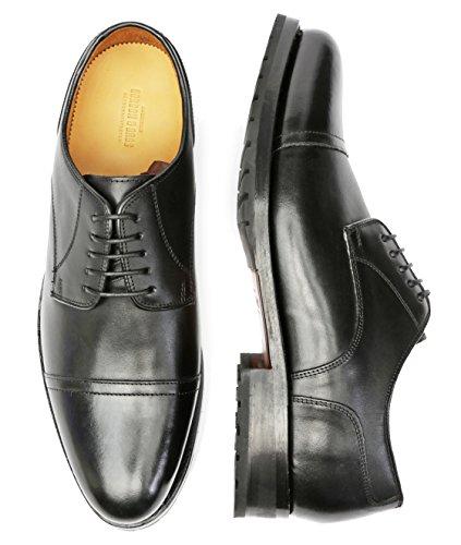 Gordon & Bros Levet 3297, rahmengenähte Herren Business Schuhe/Schnürhalbschuhe (Derby) mit Gummisohle/Ledersohle torino black