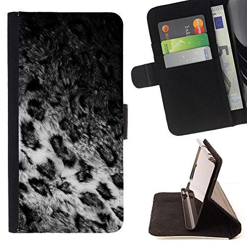 BOOK CASE - FOR Motorola Moto E 2nd Generation - Animal fur coat - Folio PU Wallert Leather Case