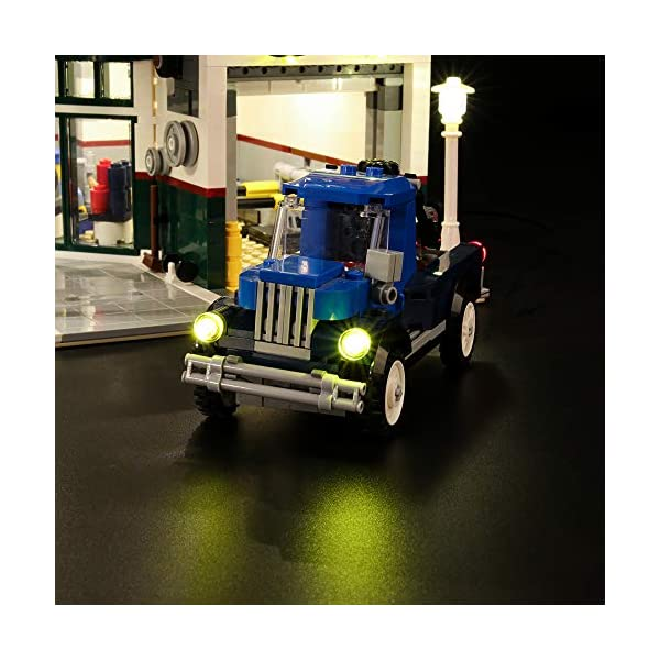 LIGHTAILING Set di Luci per (Creator Expert Corner Garage) Modello da Costruire - Kit Luce LED Compatibile con Lego… 5 spesavip