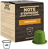 Note d'Espresso Creme Brulee Capsules 6g x 40 Capsules Exclusively Compatible with Nespresso* machines