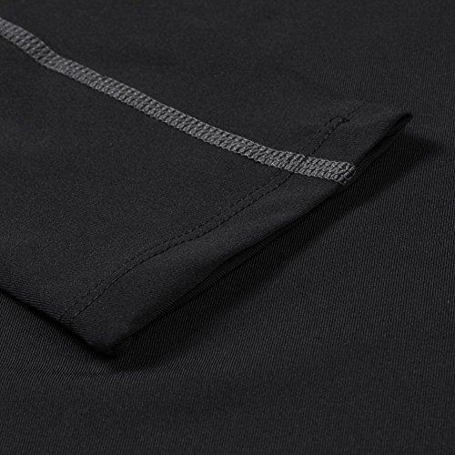 Bornbayb Femmes Sports à manches longues Chemises à séchage rapide Sports Tops de formation en cours dentraînement Tee Workwear Activewear Basketball Yoga Fitness porter par Noir