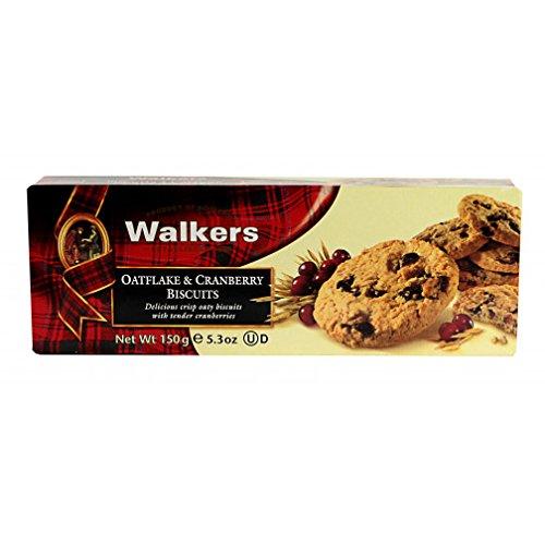 12 x 150 Gramm - Walkers Haferflocken-Wanderer & Cranberry-Kekse/Hafer und Cranberry Scoot Kekse