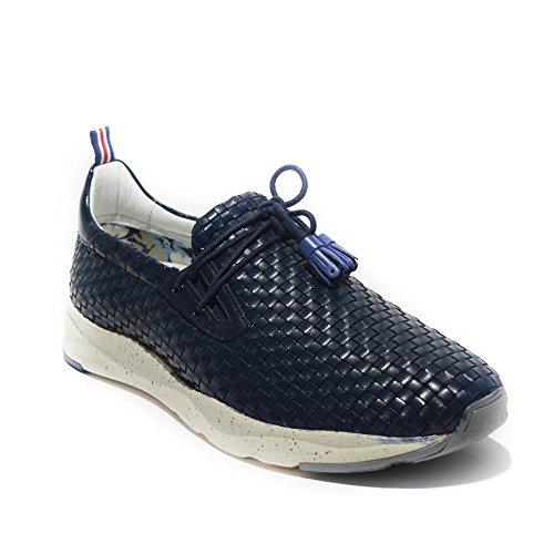 Brimarts sneakers uomo pelle intrecciata navy made in italy art.314264 42