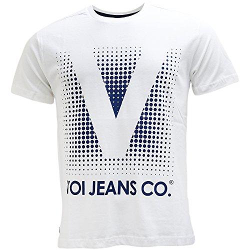 VOI Herren T-Shirt, Einfarbig Weiß