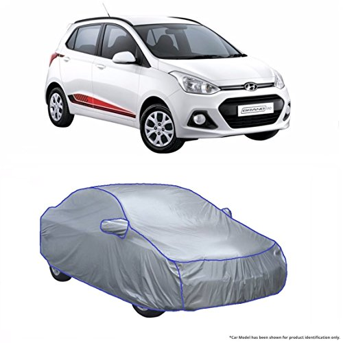 MotRoX Car Body Cover For Hyundai Grand i10 (Silver Matty with Piping on Stitching)  available at amazon for Rs.899