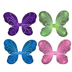 YeahiBaby 4pcs Fee Schmetterling Flügel Fee Phantasie Prinzessin Costume Dance Performance Flügel