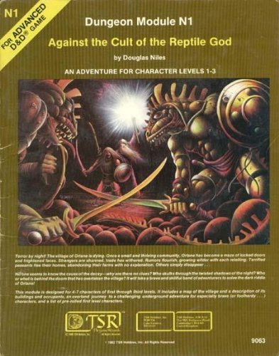 Against the Cult of the Reptile God (Advanced Dungeons & Dragons Module N1) by Douglas Niles (January 19,1983) par Douglas Niles
