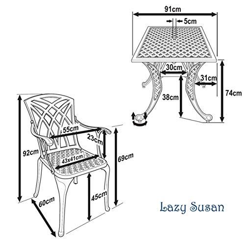 Lazy Susan – LUCY 91 cm - 7