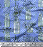 Soimoi Blau Kunstseide Stoff Flaschenvase & Sonnenblume