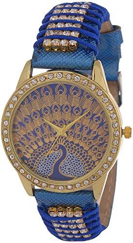 SHVAS Analogue Multi Color Dial Women\'s Watch-PEACOCK