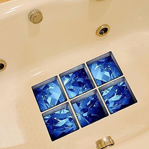 3D-Badewanne dekorative Sticker wasserfeste Aufkleber für Holz- Fliese Desktop Kreative personalisierte Aufkleber, C