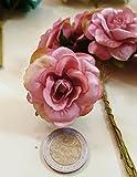 Confezione 36 pezzi-fiori, Bomboniera fiore medio rosetta x segnaposto, composizione confetti. CK2025