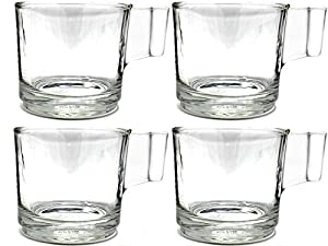 Espresso Cups and Saucers (set of 4)
