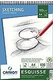 Canson 200005777 Album Esquisse 70 feuilles Papier à dessin 100g 21 x 29,7 cm - A4 Blanc