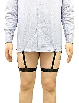 Hemdhalter Shirt Stays Strumpfhalter Anti-Rutsch Rutschfest verstellbar elastischen Nylon für Damen und Herren...