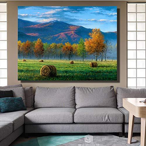 Rahmenlose Wandkunst Ölgemälde Auf Leinwand Bild Wandgemälde für Wohnzimmer Wohnkultur 60x90 CM (Kein rahmen)