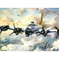 Artshdow 40 * 50Cm Frameless Diy Paint By Number Kit Paint On Canvas - Flying Airplane A005