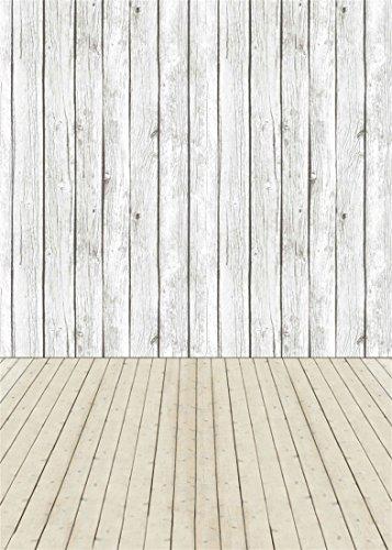L/änge: 300 cm, Breite: 400cm PVC in Holzdielen-Optik von Alpha-Tex 9.95/€//m/² wei/ß-grau
