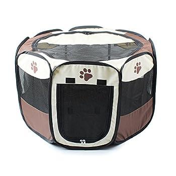 Petite tente de jeu pour animal domestique en nylon pliable en tissu pour chiot Lapin Cochon d'Inde Intérieur jouer stylos Chien Parc