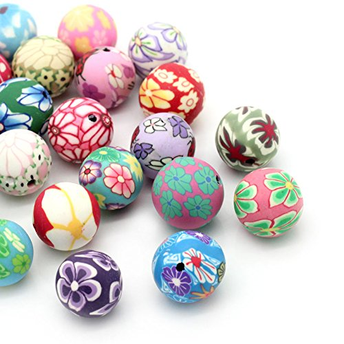 housweety-30pcs-polymer-clay-spacer-beads-pattern-printed-round-mixed-jewellery-making-findingsdiy-c