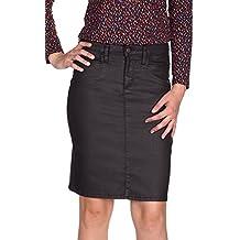 aa497943a9e5 KANOPE - Jupe Taille Haute- Enduit léger - Nomie Prisme - Femme