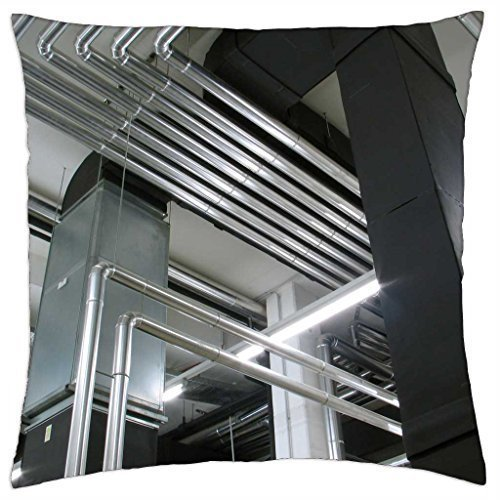HLKPE Boiler Room Piping - Throw Pillow Cover Case (18' x 18')