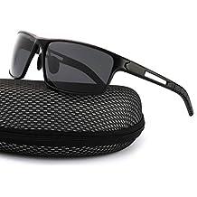Gafas De Sol Hombre Deportivas Espejo Polarizadas Anti Reflectante  Ultraligero Metal Protección 100% UVA UVB db83606afe