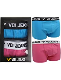 Mens Voi 'Flo' Fluorescent Boxer Shorts/ Trunks Gift Boxed - 2 Pairs