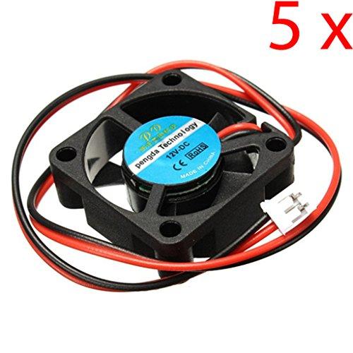 Gaoxing Tech. Ventilador de la CC 30m m 5PCS 12V para la impresora 3D RAMPS Electronics / Extruder - RepRap Prusa