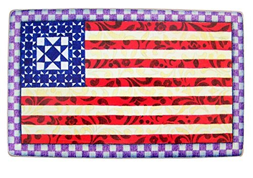 CB Gift Jim Shore Holz God Bless America Box Sign mit Flagge, 20,3 cm -