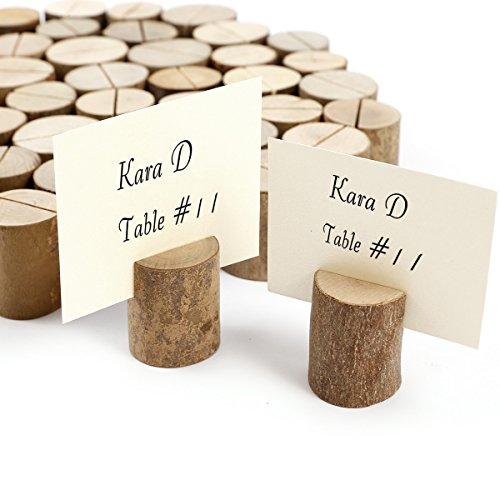 50 x Holz Holzsteg Kartenhalter Platzkarte Tischkartenhalter Namesschild Fotohalter Hochzeit Deko - 2