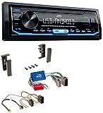 JVC KD-X151 1DIN USB Aux MP3 Autoradio für Audi A2 A3 8L A4 B5 A6 C5 Aktivsystem