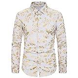Tazzio Fashion Camicia Manica Lunga-Camicia uomo Button-down tempo libero-Camicia Giallo sale