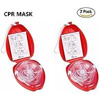 CPR Beatmungsmaske mit Filter,Lifesport 2 Stück CPR Tasche Rescue Maske mit aufgedruckter Ersthelfer-Anleitung... preisvergleich bei billige-tabletten.eu