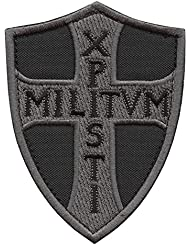 ACU Subdued Knights Templar Xpisti Militvm Soldiers of Christ Crusader Cross Tactical Morale Sew Thermocollant Écusson Patch