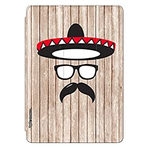 """Enthopia Designer Front Smart Cover Mexico Man Back Cover for Ipad Pro 12"""" with Transparent Back Case"""