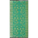 Sapana - Turquoise Green & Golden (3' x 6')