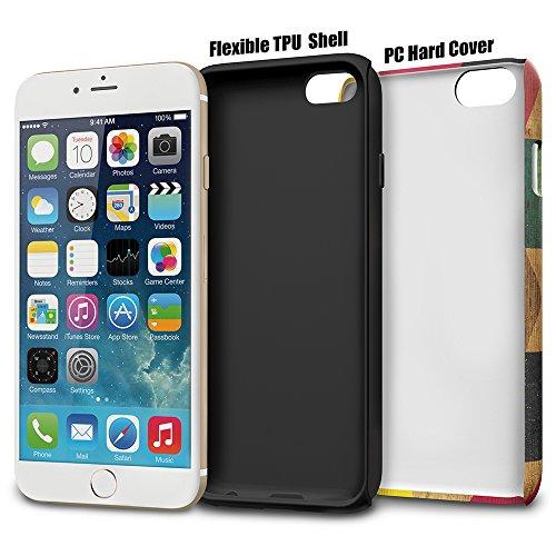 iPhone 6s Hülle, TORU [DUAL LAYER PATTERN] [Farbig] [Geometrisch] Designer-Muster [Motiv][Bunt] für iPhone 6/6s - Wood Geo Artist's Dream
