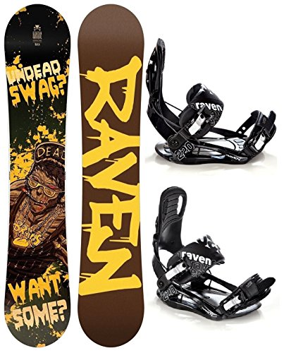 Snowboard Set: Snowboard Raven Swag Gullwing + Bindung Raven s220 Black XL (160cm)