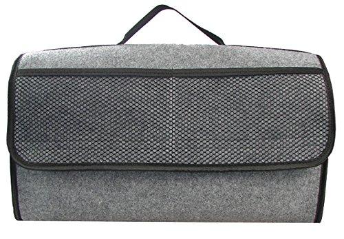 Kofferraumtasche in grau groß für jedes Fahrzeug passend Test