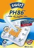 4 Staubsaugerbeutel Swirl PH 86, PH86 geeignet für AEG Electrolux Ultra Silencer Z 3341