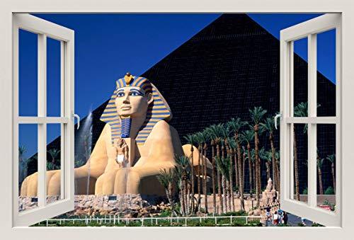 Luxor Las Vegas (Unified Distribution Luxor Hotel and Casino Las Vegas - Wandtattoo mit 3D Effekt, Aufkleber für Wände und Türen Größe: 92x61 cm, Stil: Fenster)