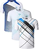 jeansian Herren Sportswear 3 Packs Sport Slim Quick Dry Short Sleeves Compression T-Shirt Tee LSL230_069_133_White L