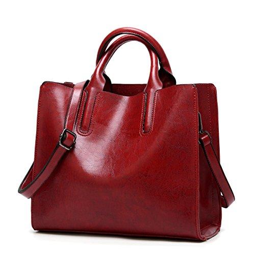 ZPFME Frauen Handtasche Tragbar Einfach Kollokation Umhängetasche Mädchen Party Retro Damen Mode Messenger Bag Handtasche Damen Tasche Geschenk Red